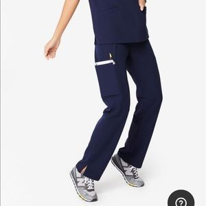 FIGS Kade Cargo Scrubs in Navy